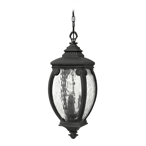 Hinkley Lighting Outdoor Hanging Light with Clear Glass in Museum Black Finish 1942MB
