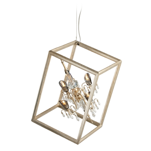 Corbett Lighting Corbett Lighting Houdini Silver Leaf with Gold Leaf Pendant Light 177-45