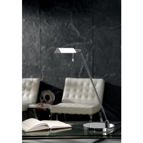 Holtkoetter Lighting Holtkoetter Modern Swing Arm Lamp in Chrome Finish 6444 CH