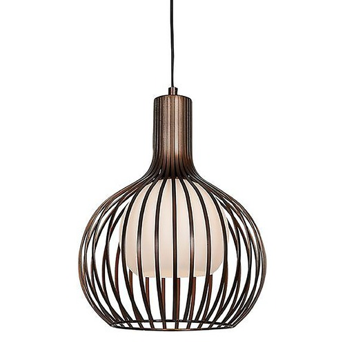 Access Lighting Access Lighting Chuki Bronze Pendant Light with Globe Shade 23436-BRZ