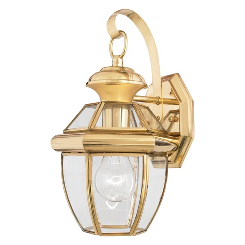 Quoizel Lighting Quoizel Newbury Polished Brass Outdoor Wall Light NY8315BFL