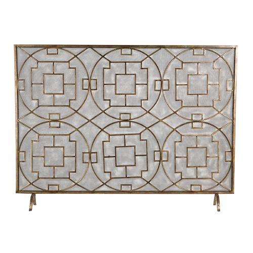 Sterling Lighting Geometric Fire screen 51-10160