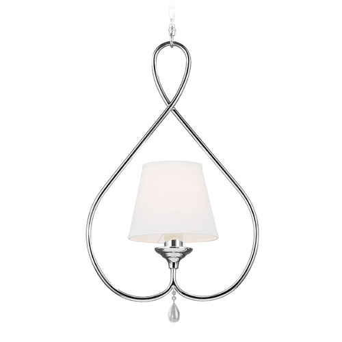 Sea Gull Lighting Sea Gull Lighting West Town Chrome Mini-Pendant Light with Empire Shade 6110501-05