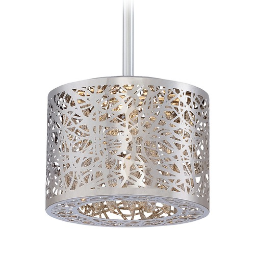 George Kovacs Lighting George Kovacs Hidden Gems Chrome LED Mini-Pendant Light with Cylindrical Shade P989-077-L