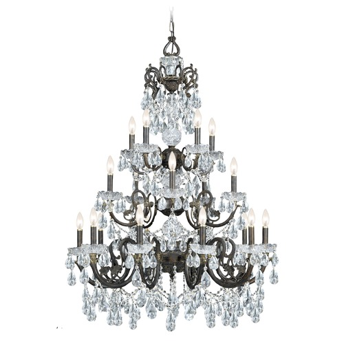 Crystorama Lighting Crystorama Lighting Legacy English Bronze Crystal Chandelier 5190-EB-CL-I