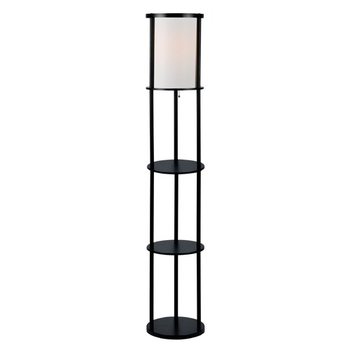 Lite Source Lighting Lite Source Laina Black Floor Lamp with Cylindrical Shade LS-82839BLK