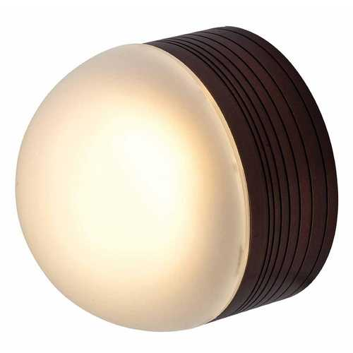 Access Lighting Modern Outdoor Wall Light with White Glass in Bronze Finish 20337MG-BRZ/FST