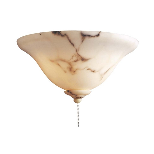 Minka Aire Light Kit with Alabaster Glass Shades in Alabaster Dust Finish K9372-5