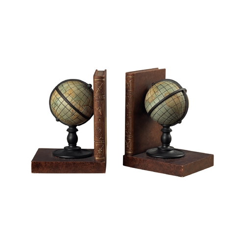 Vintage World Globe Bookends 93 9224 Destination Lighting