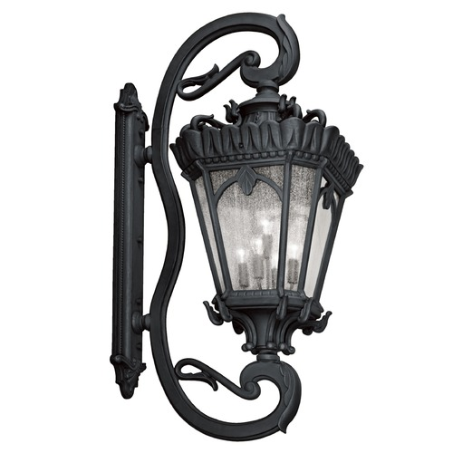 Kichler Lighting Kichler Outdoor Wall Light with Clear Glass in Textured Black Finish 9362BKT