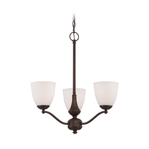 Nuvo Lighting Chandelier with White Glass in Prairie Bronze Finish 60/5156