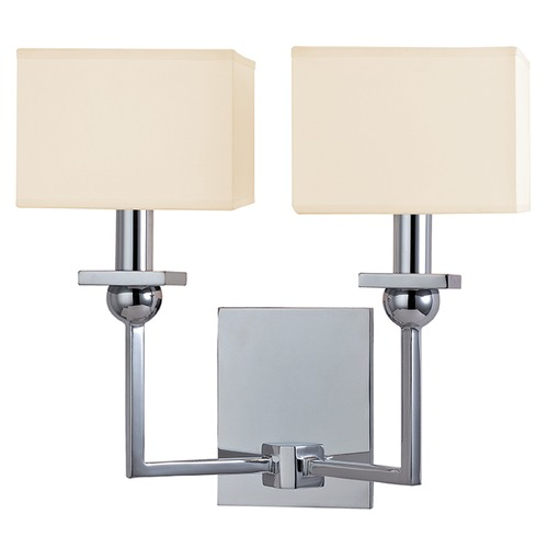 Hudson Valley Lighting Morris 2 Light Sconce Square Shade - Polished Chrome 5212-PC