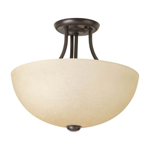 Progress Lighting Modern Pendant Light with Beige / Cream Glass in Antique Bronze Finish P3431-20WB