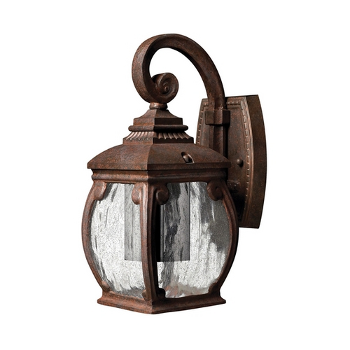 Hinkley Lighting Outdoor Wall Light with Clear Glass in French Bronze Finish 1946FZ