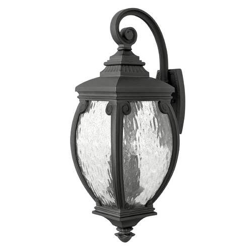 Hinkley Lighting Outdoor Wall Light with Clear Glass in Museum Black Finish 1944MB