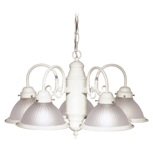 Nuvo Lighting Nuvo Lighting Textured White Chandelier SF76/693