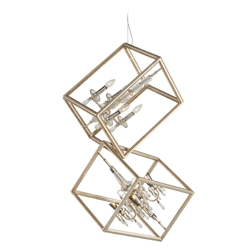 Corbett Lighting Corbett Lighting Houdini Silver Leaf with Gold Leaf Pendant Light 177-48