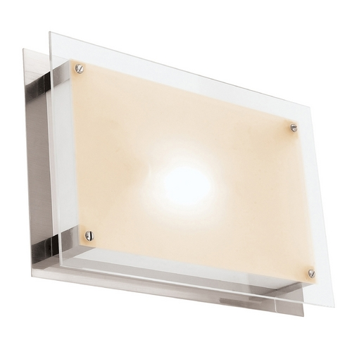 Access Lighting Access Lighting Vision Brushed Steel LED Flushmount Light 50034LED-BS/FST
