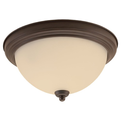 Sea Gull Lighting Sea Gull Lighting Ceiling Flush Mount Misted Bronze LED Flushmount Light 77063S-814