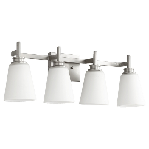 Quorum Lighting Quorum Lighting Friedman Classic Nickel Bathroom Light 5002-4-64