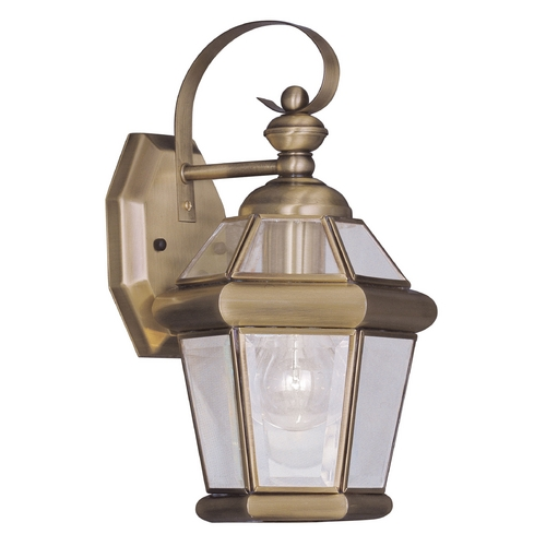 Livex Lighting Livex Lighting Georgetown Antique Brass Outdoor Wall Light 2061-01