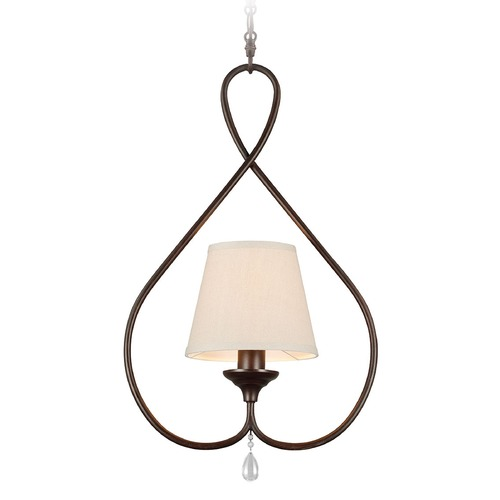 Sea Gull Lighting Sea Gull Lighting West Town Burnt Sienna Mini-Pendant Light with Empire Shade 6110501-710