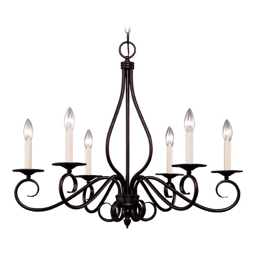 Savoy House Savoy House English Bronze Chandelier KP-103-6-13