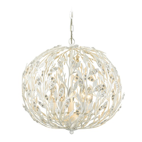 Elk Lighting Elk Lighting Trella Pearl White Pendant Light 18185/5