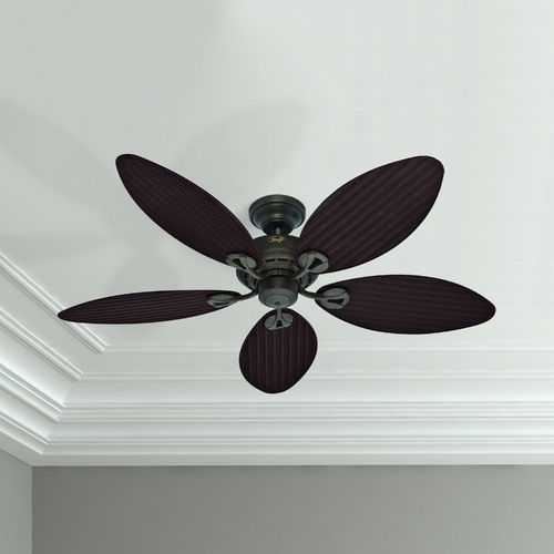 Hunter Fan Company Hunter Fan Company Bayview Provencal Gold Ceiling Fan Without Light 54098