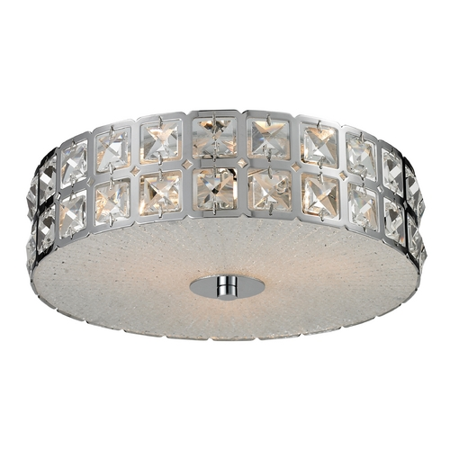 Elk Lighting Modern Flushmount Light in Chrome Finish 81080/3
