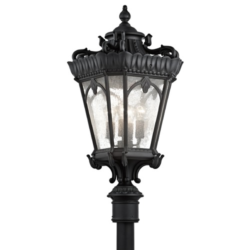 Kichler Lighting Kichler Post Light with Clear Glass in Textured Black Finish 9565BKT