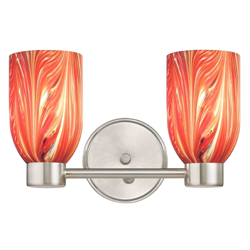 Design Classics Lighting Design Classics Aon Fuse Satin Nickel Bathroom Light 1802-09 GL1017D