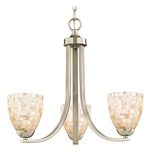 Design Classics Lighting Design Classics Dalton Fuse Satin Nickel Mini-Chandelier 5843-09 GL1026MB