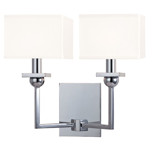 Hudson Valley Lighting Morris 2 Light Sconce Square Shade - Polished Chrome 5212-PC-WS