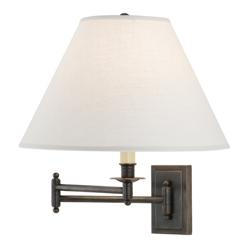 Robert Abbey Lighting Robert Abbey Kinetic Linen Shade Swing Arm Lamp Z1504ALT