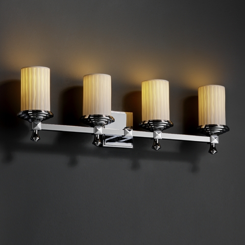 Justice Design Group Justice Design Group Limoges Collection Bathroom Light POR-8534-10-WFAL-CROM
