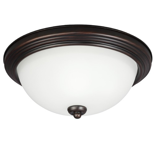 Sea Gull Lighting Sea Gull Lighting Ceiling Flush Mount Burnt Sienna LED Flushmount Light 77263S-710
