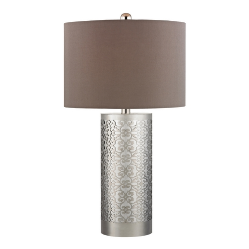 Dimond Lighting Modern Table Lamp with Taupe Shades in Polished Nickel Finish D336