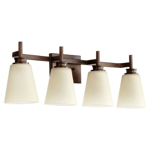 Quorum Lighting Quorum Lighting Chateaux Oiled Bronze Bathroom Light 5002-4-86