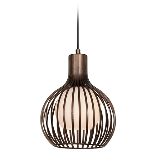 Access Lighting Access Lighting Chuki Bronze Mini-Pendant Light with Globe Shade 23437-BRZ