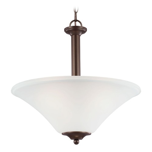 Sea Gull Lighting Sea Gull Lighting Holman Bell Metal Bronze Pendant Light with Bowl / Dome Shade 69808BLE-827