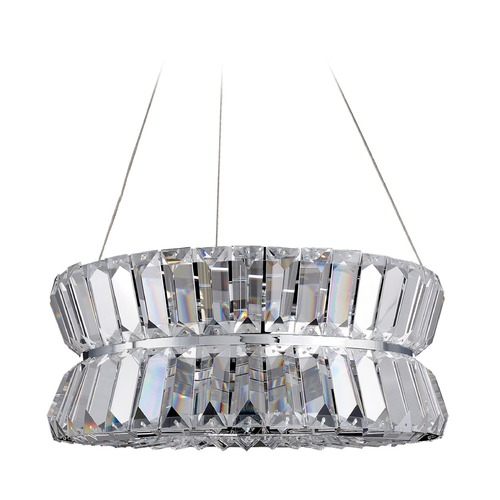 Allegri Lighting Crystal Pendant Light Chrome Armanno by Allegri Crystal 11275-010-FR001