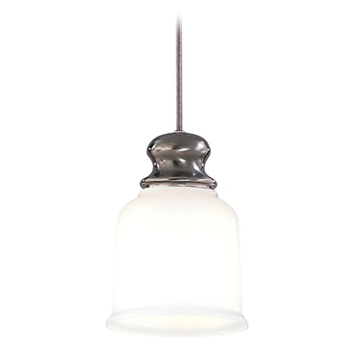 Hudson Valley Lighting Hudson Valley Lighting Riverton Antique Nickel Mini-Pendant Light with Bell Shade 2321-AN