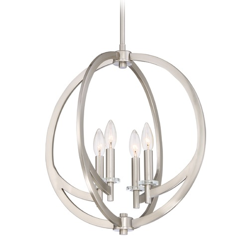 Quoizel Lighting Quoizel Lighting Orion Brushed Nickel Pendant Light ON2818BN