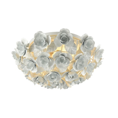 Elk Lighting Elk Lighting Bouquet Matte White Flushmount Light 18203/2