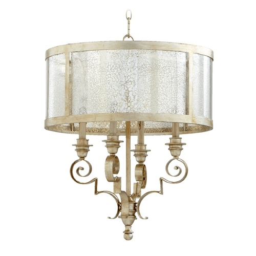 Quorum Lighting Quorum Lighting Champlain Aged Silver Leaf Chandelier 6081-4-60