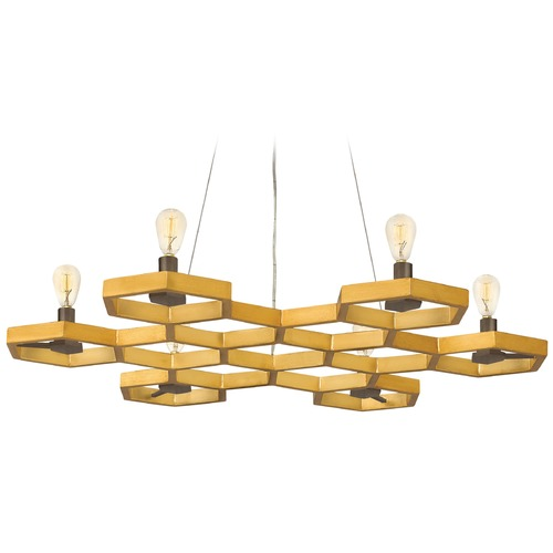 Hinkley Lighting Hinkley Lighting Moxie Sunset Gold Chandelier FR38016SSG