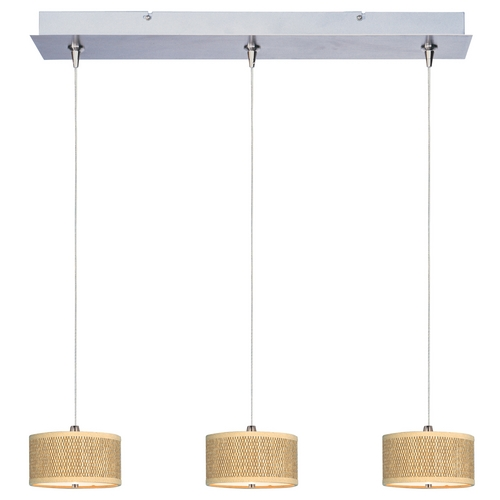 ET2 Lighting Modern Low Voltage Multi-Light Pendant Light with Brown Tones Shades and 3-Lights E95496-101SN