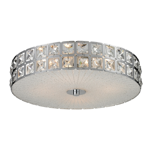 Elk Lighting Modern Flushmount Light in Chrome Finish 81081/4