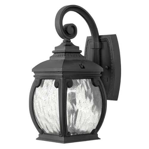 Hinkley Lighting Outdoor Wall Light with Clear Glass in Museum Black Finish 1946MB